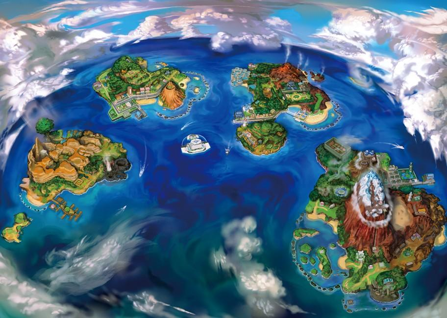 moon sun alola region